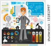 business infographic   eps10  | Shutterstock .eps vector #151813997