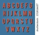 vintage alphabet. retro type... | Shutterstock .eps vector #151816637