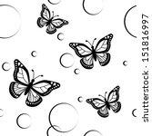butterflies seamless | Shutterstock .eps vector #151816997