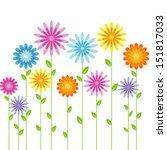 Stock vector flowers 151817033