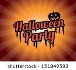 halloween party over grunge...   Shutterstock .eps vector #151849583