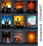 halloween party 9 brochure... | Shutterstock .eps vector #151854617