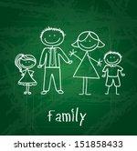 family design over green board  ... | Shutterstock .eps vector #151858433