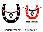a set of wild bull head and the ... | Shutterstock .eps vector #151859177