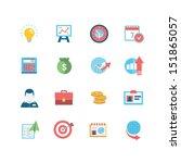 business icon set | Shutterstock .eps vector #151865057