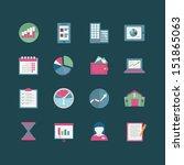 business icon set | Shutterstock .eps vector #151865063