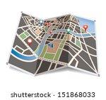 vector city map. | Shutterstock .eps vector #151868033