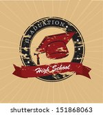 graduation label over lineal... | Shutterstock .eps vector #151868063