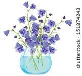 Campanula Bell Flowers In Glas...