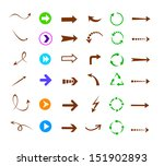 colorful arrows icon set ... | Shutterstock .eps vector #151902893