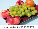 grapes and peaches | Shutterstock . vector #151922477