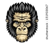 ape head. perfect for paintball ... | Shutterstock .eps vector #151933067