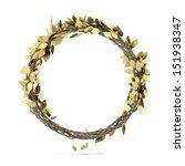 golden laurel wreath | Shutterstock . vector #151938347