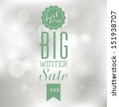 vector winter sale poster with... | Shutterstock .eps vector #151938707