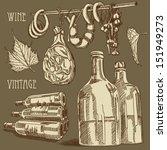 vector wine set | Shutterstock .eps vector #151949273