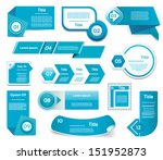 set of blue vector progress ... | Shutterstock .eps vector #151952873