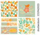 vector autumn set  seamless... | Shutterstock .eps vector #151962023