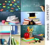 collage of different school... | Shutterstock . vector #151995737