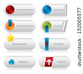cool download web buttons with... | Shutterstock . vector #152005577