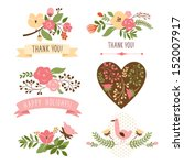 floral banners for life events  ... | Shutterstock .eps vector #152007917
