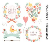 Banners  Floral  Frames And...