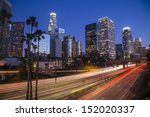 los angeles downtown skyline at ... | Shutterstock . vector #152020337