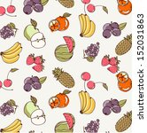 vector illustration fruit of... | Shutterstock .eps vector #152031863