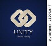 vector unity symbol design... | Shutterstock .eps vector #152043647