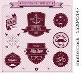set of vintage styled design... | Shutterstock .eps vector #152045147