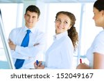 business consultant discussing... | Shutterstock . vector #152049167