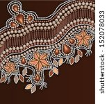 beaded floral ornament | Shutterstock .eps vector #152078033