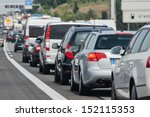 holiday traffic jam on a freeway | Shutterstock . vector #152115353