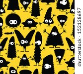 cute monsters   seamless pattern | Shutterstock .eps vector #152128697