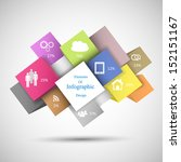 colorful infographic cubes for... | Shutterstock .eps vector #152151167