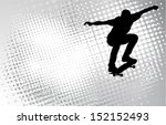 Skateboarder Silhouette On The...
