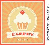 bakery shop vector retro banner ... | Shutterstock .eps vector #152155103