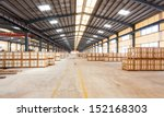 interior of a warehouse | Shutterstock . vector #152168303