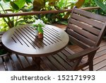 Chair And Tables In Outdoor Cafe