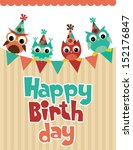happy birthday card design....   Shutterstock .eps vector #152176847