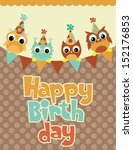 happy birthday card design.... | Shutterstock .eps vector #152176853