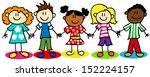 fun stick figure cartoon kids ...   Shutterstock .eps vector #152224157