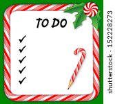 christmas to do list on... | Shutterstock .eps vector #152228273