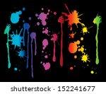 paint splatter   spectrum... | Shutterstock .eps vector #152241677