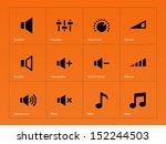 speaker icons on orange...