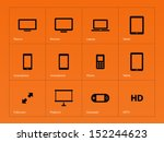 screens icons on orange...