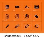 blogger icons on orange...
