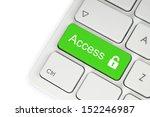 open lock green button on the... | Shutterstock . vector #152246987