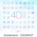 40 trendy thin line icons for... | Shutterstock .eps vector #152260427