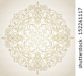 Vector baroque ornament in Victorian style. Element for design. Light lace background. It can be used for decorating of invitations, greeting cards, decoration for bags and clothes.