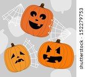 halloween background | Shutterstock .eps vector #152279753